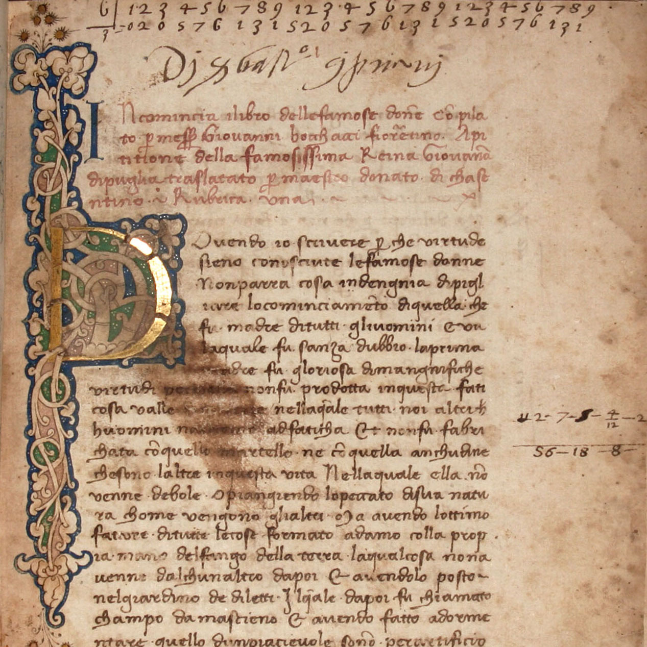 Boccaccio's Famous Women  Florentine Manuscript of the First Italian Translation