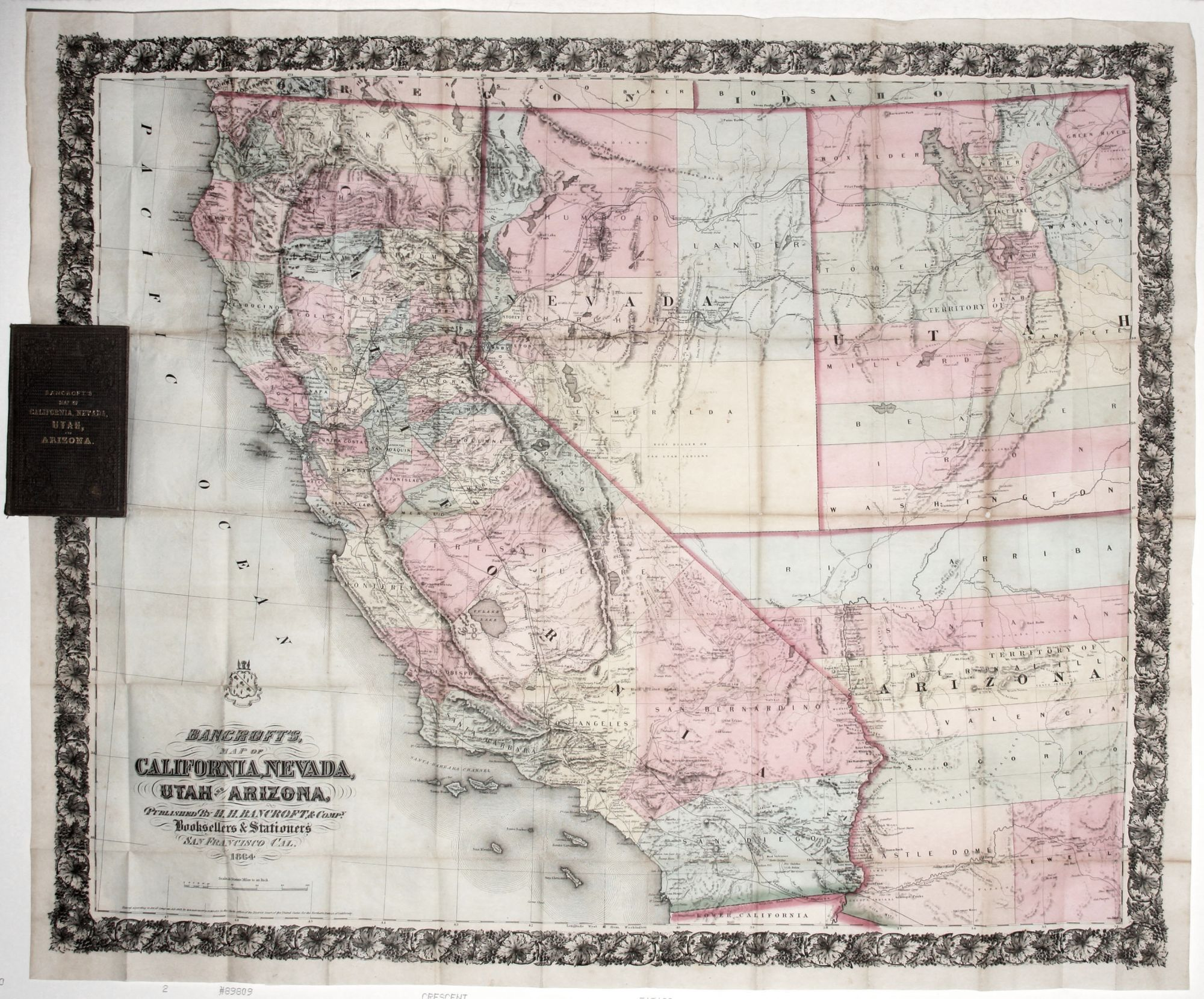 Map Of California And Arizona Together.Bancroft S Map Of California Nevada Utah And Arizona H H