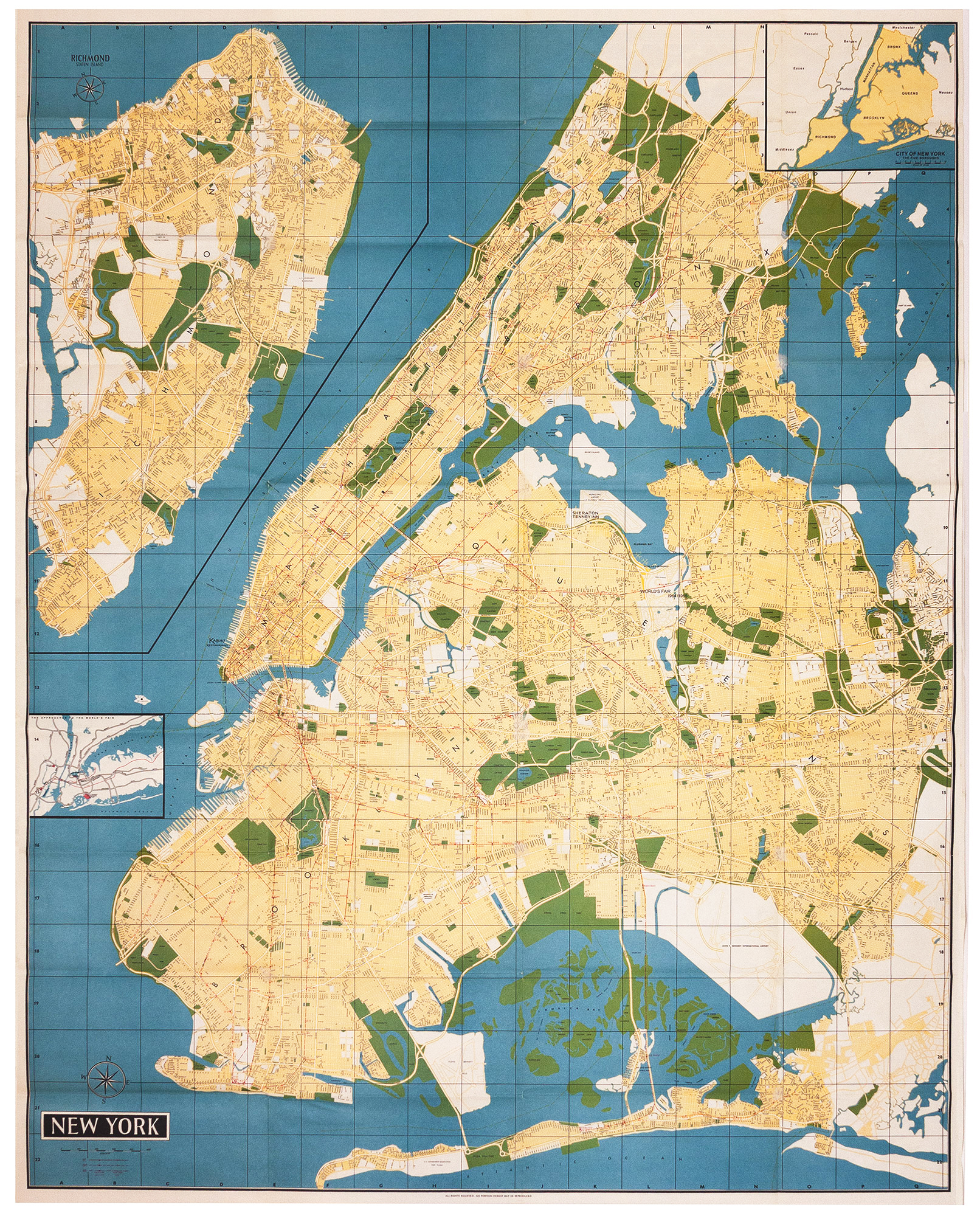 New York Map-Guide by H. BOLLMANN on Martayan Lan