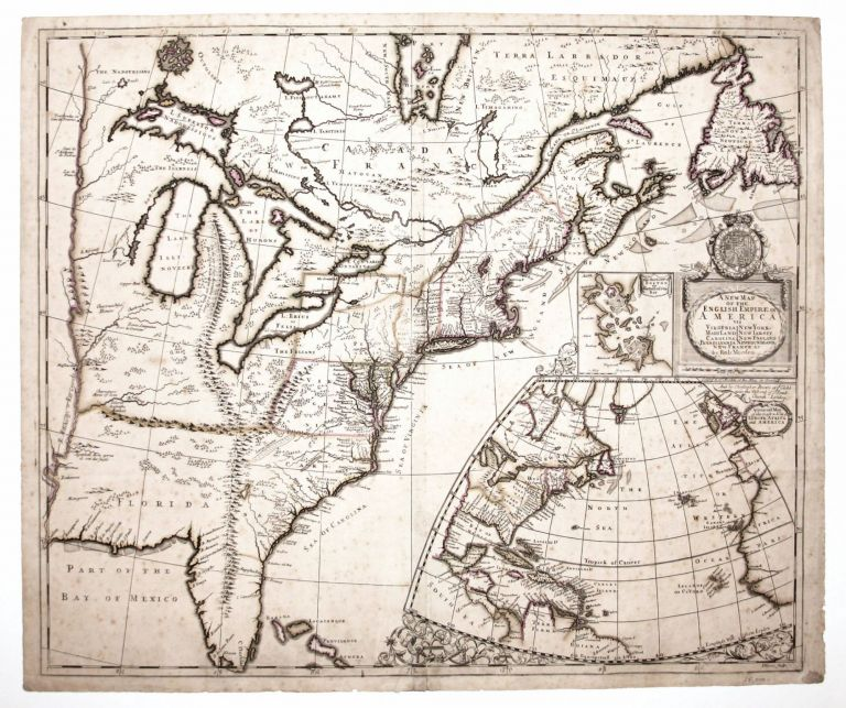 A New Map Of The English Empire In America . . R./ BROWNE MORDEN, C.