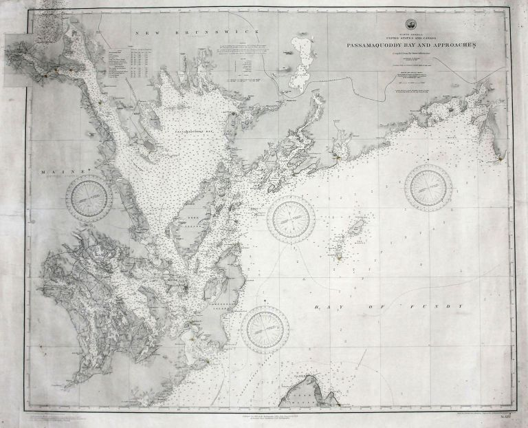 North America United States And Canada Passamaquoddy Bay And Approaches. U. S. NAVY HYDROGRAPHIC OFFICE.