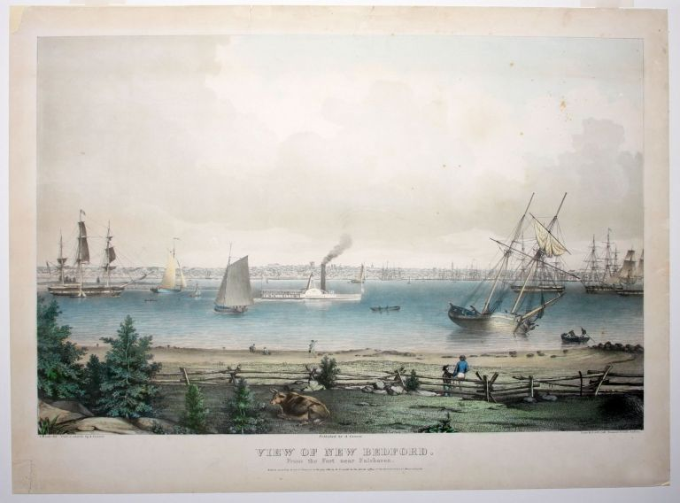 View Of New Bedford. From the Fort near Fairhaven. artist, publisher.