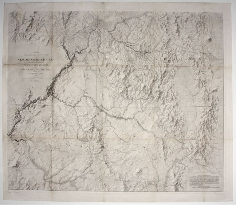 Map of Explorations And Surveys In New Mexico And Utah…. Capt. J. N./ VON EGLOFFSTEIN MACOMB, Baron F. W.