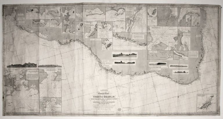 Laurie's Genaral Chart Of The Coasts Of Brasil, &c. From The River Para To Buenos-Ayers;. Richard H./ PURDY LAURIE, Alexander, John/ FINDLAY.