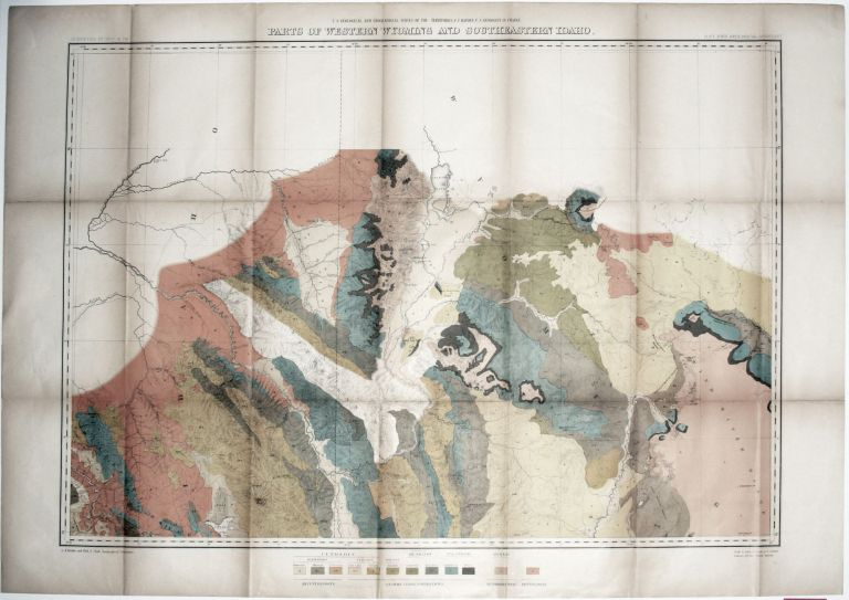 Two Sheets: Parts Of Western Wyoming And Southeastern Idaho. with: Panoramic Views. F. V. HAYDEN.
