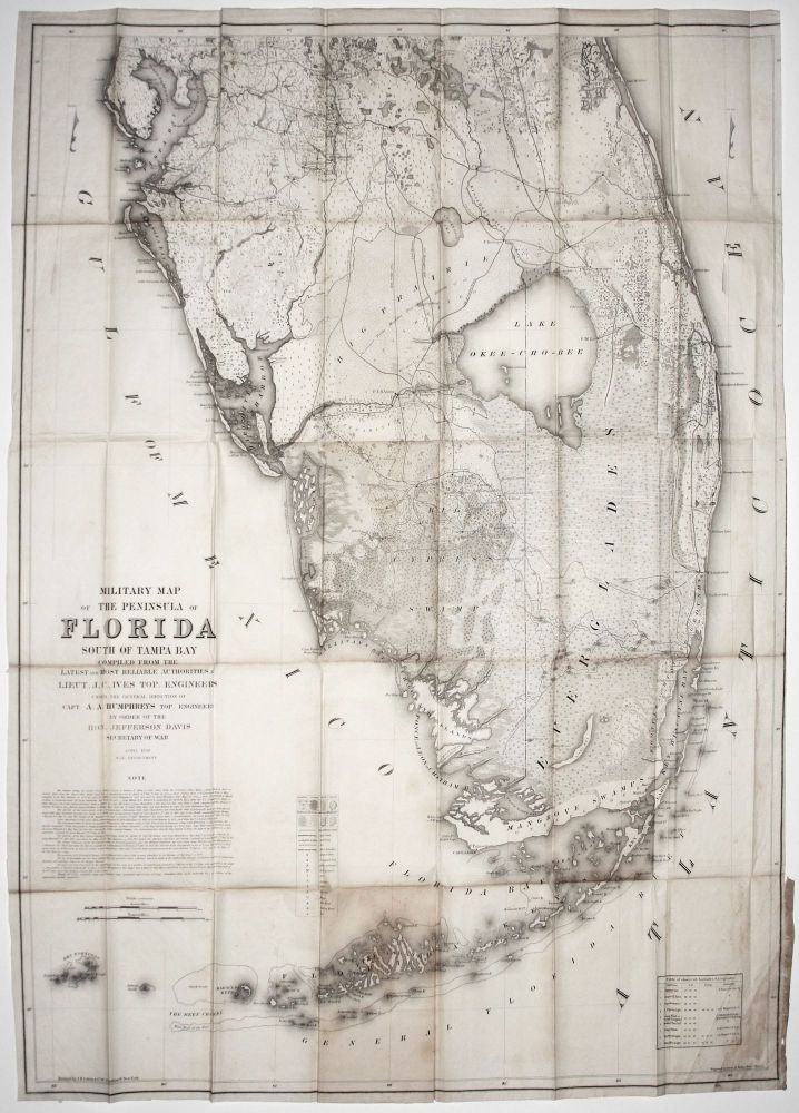 Tampa Bay Florida Map.Military Map Of The Peninsula Of Florida South Of Tampa Bay By Order
