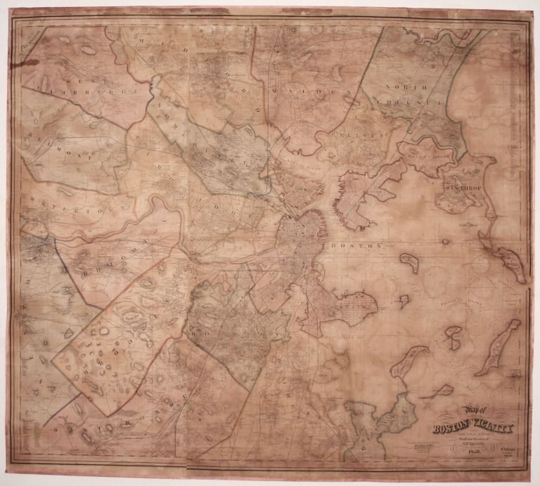 Map of Boston and its Vicinity From Actual Surveys Under the Direction of H.F. Walling, Superintendent of the State Map. 1859 …. H. F. WALLING.