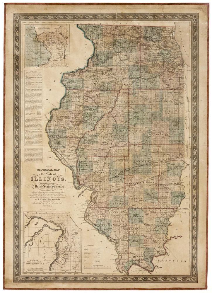 New Sectional Map of the State of Illinois. Compiled From the United States Surveys. J. H. COLTON, J/ MESSINGER CO./ PECK, A. J., J./ MATHEWSON.