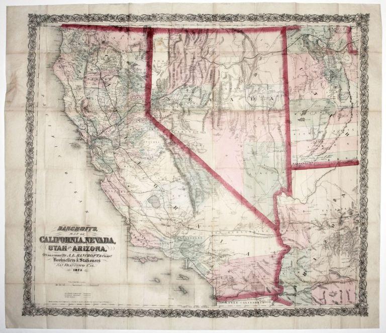 Bancroft's Map of California, Nevada, Utah and Arizona, A. L. BANCROFT, William H. CO./ KNIGHT.