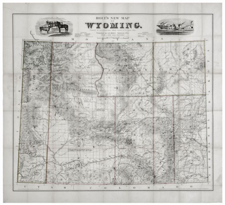 Holt\'s New Map of Wyoming | G. L. HOLT