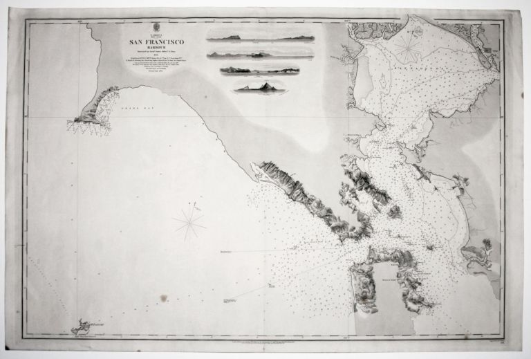 N. America West Coast San Francisco HarbourSurveyed by Lieut. James Alden U. S Navy 1856. BRITISH ADMIRALTY.