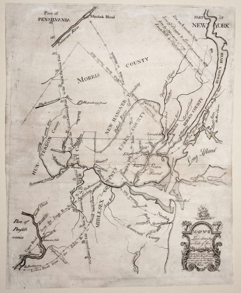 Map No II Laid down by a Scale of five Miles to an Inch. James / EVANS ALEXANDER, James, Lewis/ TURNER.