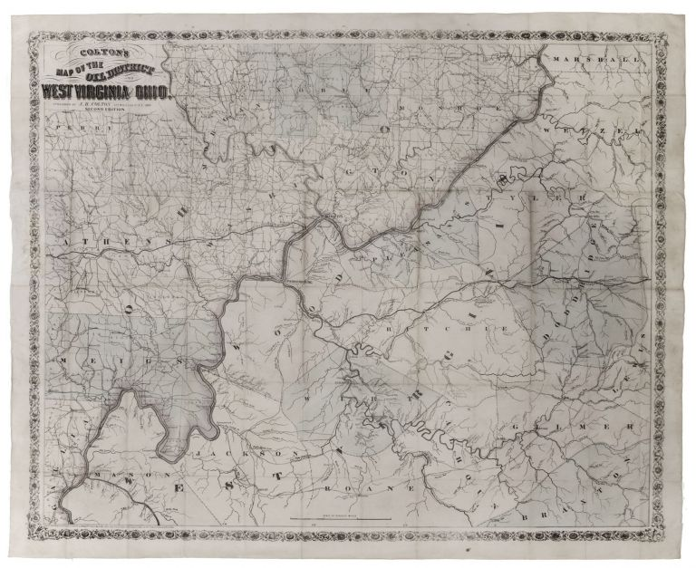 Colton's Map of the Oil District of West Virginia and Ohio. J. H. COLTON.