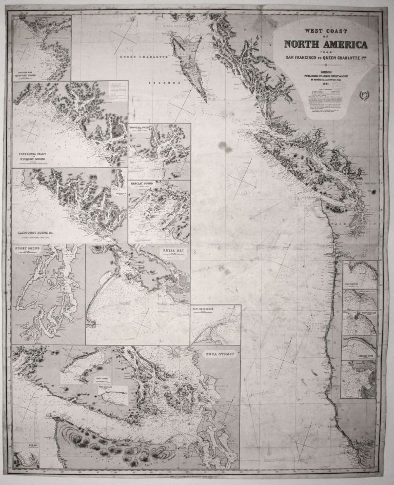 West Coast of North America from San Francisco to Queen Charlotte Ids. JAMES IMRAY, SON.