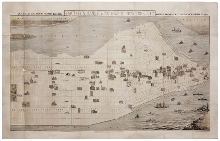 Bartlett's Illustrated Map Of New York City…. G. H. BARTLETT.