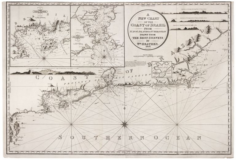 A New Chart Of The Coast Of Brazil From St. Ann's Islands to St. Sebastian…. William HEATHER.
