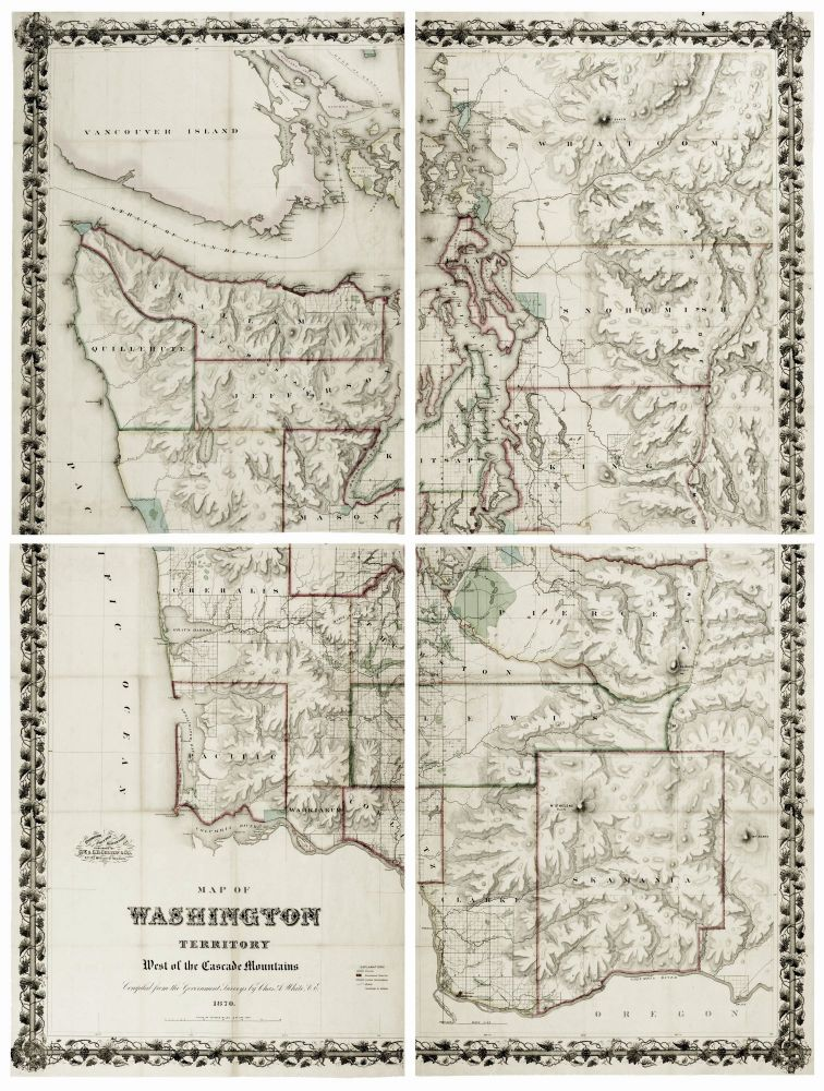 A Map Of Washington Territory West Of The Cascade Mountains C A