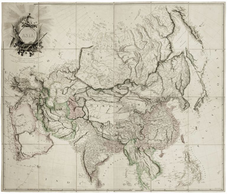 Asia To Major James Rennell, Esqr. F. R. S. &c. &c. This Map Is Inscribed, by His much Obliged Humble Servant January 1st 1801. A. Arrowsmith. Aaron ARROWSMITH.