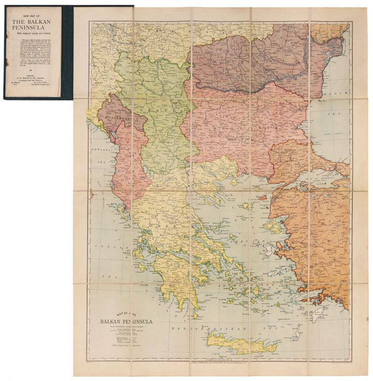 Map Of The Balkan Peninsula… | G. W. BACON, William CO. LTD./ STANFORD