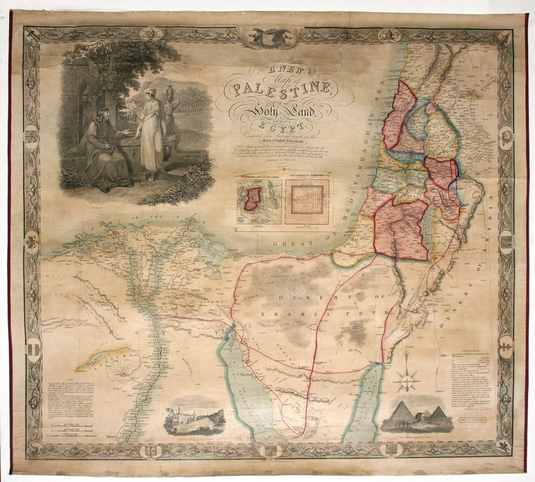 A New Map of Palestine, Or The Holy Land With Part Of Egypt…. R. SEATON.