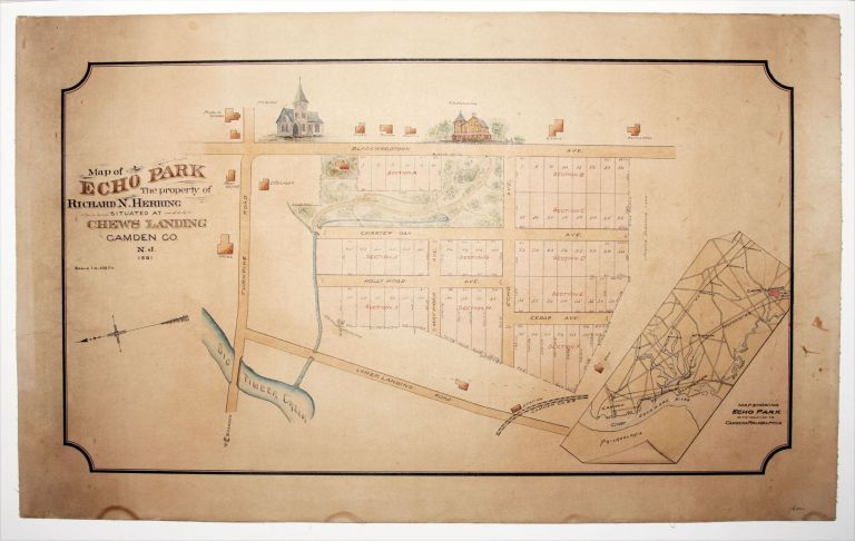 Map of Echo Park The property of Richar N. Herring Situated At Chews landing Camden Co. N. J. 1891. ANONYMOUS.