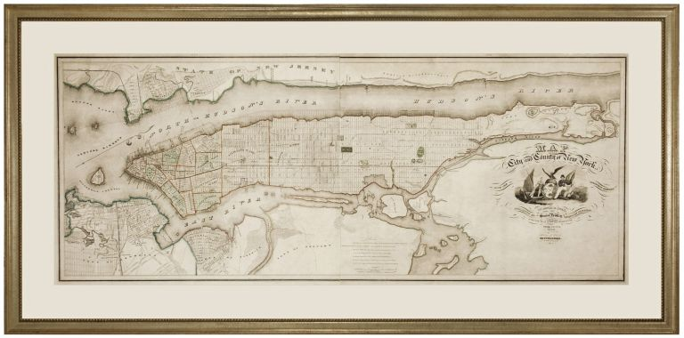 Map of the City and County of New York…. David H./ DE WITT BURR, S.