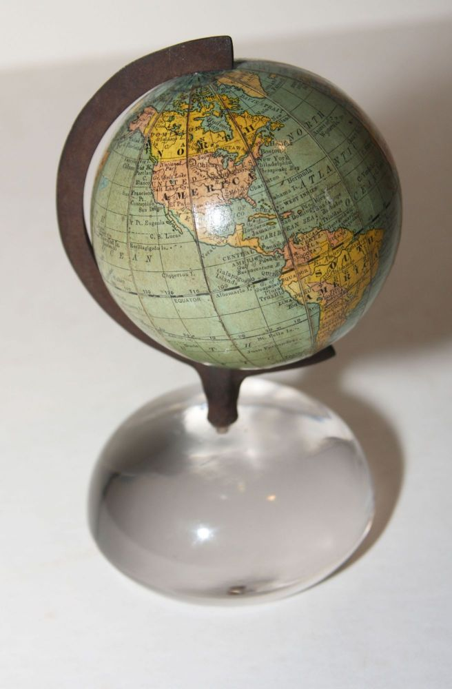 In area west of Australia:] Rand McNally & Co.'s New 3 Inch Terrestrial Globe Copyright 1891, by Rand, McNally, & Co. AMERICAN GLOBE AND SCHOOL SUPPLY CO./ RAND MCNALLY.