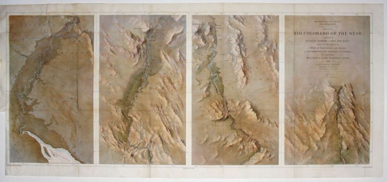 Map No. 1 Rio Colorado Of The West…14 ½ x 34 5/8 inches. [With:] Map No. 2 Rio Colorado Of The West…. Baron F. S./ IVES VON EGLOFFSTEIN, J. C.