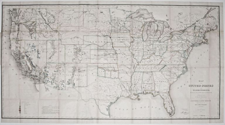 Map of the United States and Territories . . J. S. GENERAL LAND OFFICE/ WILSON.