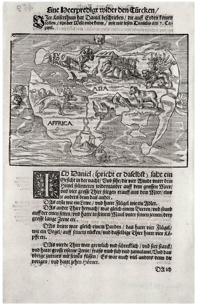 Untitled Woodcut World Map. H. LUFFT.