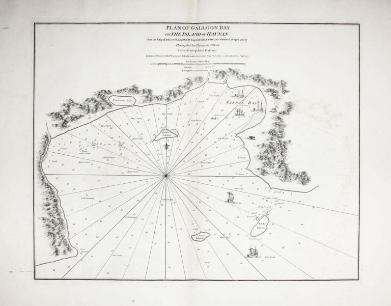 Plan of Galloon Bay On The Island of Hay-Nan where the Ship Earl of Sandwich Capt. Charles Deane wintered in 1776 and 77 Having lost her Passage to China Survey'd by Capt. John Haldane…. SAYER, Capt. John BENNETT/ HALDAN.