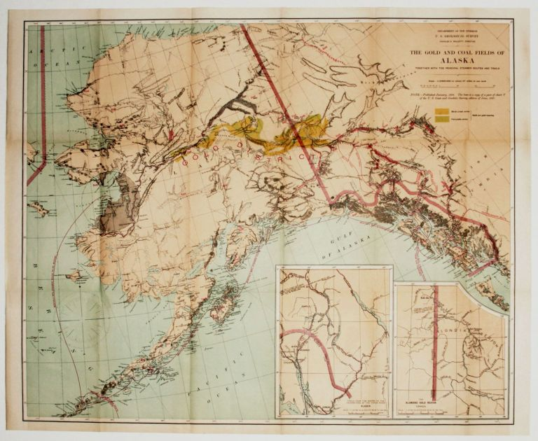 The Gold And Coal Fields Of Alaska Together With The Principal Steamer routes And Trails. U. S. GEOLOGICAL SURVEY.