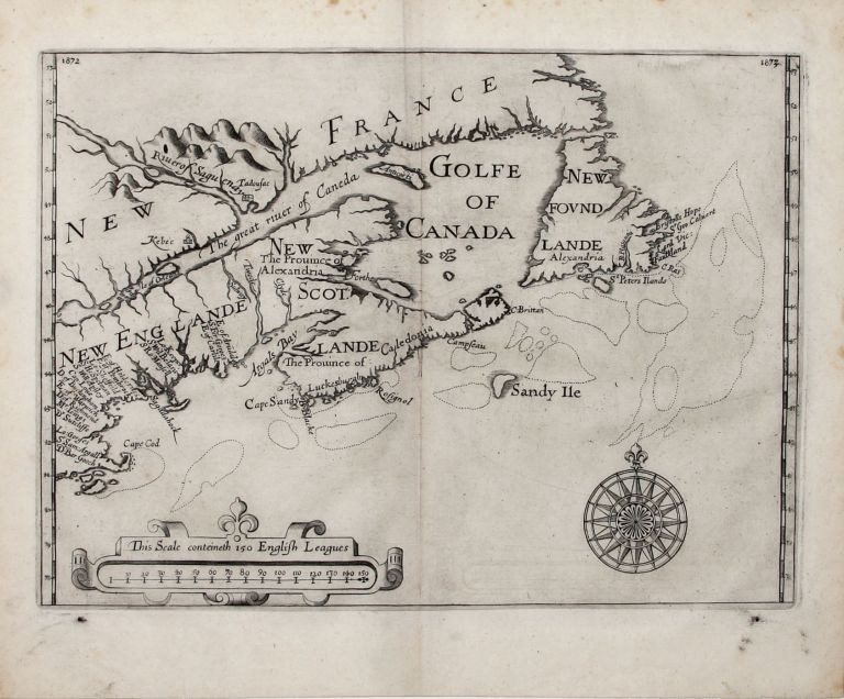 Untitled Map of New England and Canada. W. SIR ALEXANDER.