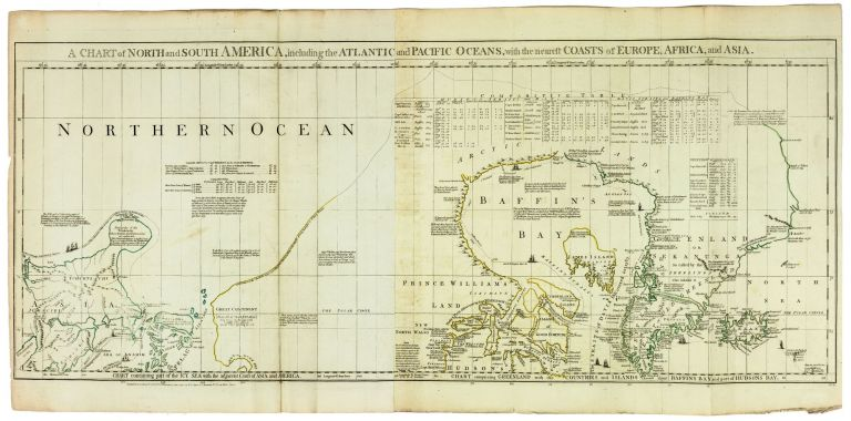 A Chart of North and South America, including the Atlantic and Pacific Oceans, with the nearest Coasts of Europe, Africa, and Asia. R. SAYER, J. / GREEN BENNETT, J.