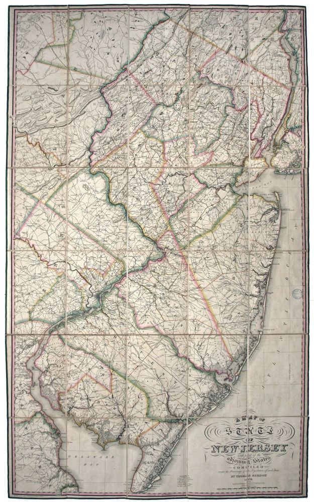 A Map of the State of New Jersey with part of the Adjoining States. Thomas GORDON.