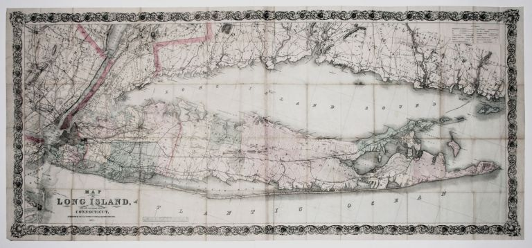 Map of Long Island, and the Southern Part of Connecticut. G. W. COLTON, C. B.