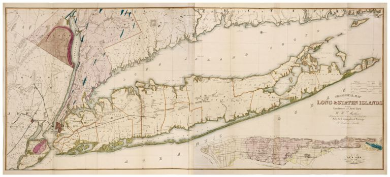 Geological Map of Long & Staten Islands with the Environs of New York…. W. W./ SMITH MATHER, T. C.