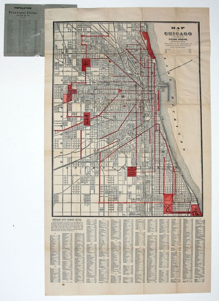 Map of Chicago. F. ROEHR.