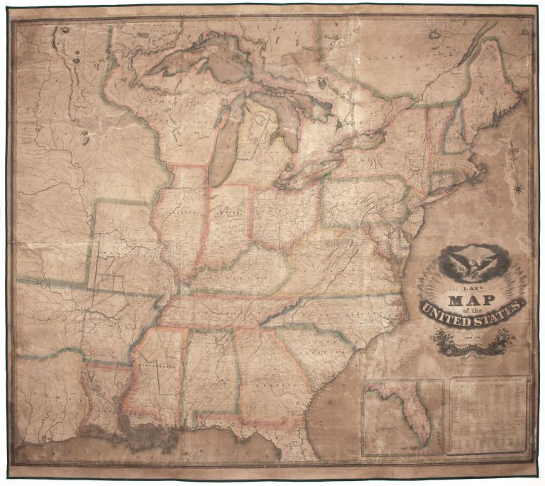 Lay's Map of the United States. Compiled from the Latest and best Authorities and Actual Surveys…. Amos LAY.
