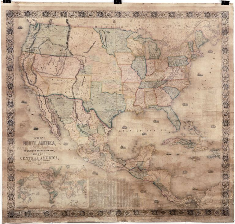 New Map of That Portion of North America, Exhibiting the United States and Territories. J. MONK.
