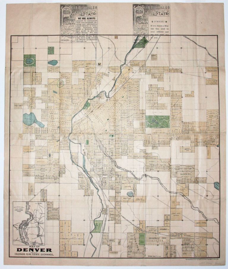 Map of Denver Issued By The Colorada Real Estate Exchange ... Denver Real Estate Map on