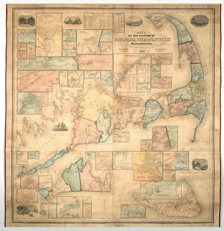 Map of the Counties of Barnstable, Dukes and Nantucket, Massachusetts…. H. F. WALLING.