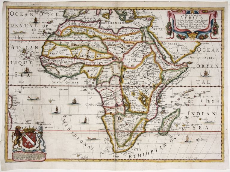 A New Mapp of Africa. R./ SANSON BLOME, N.