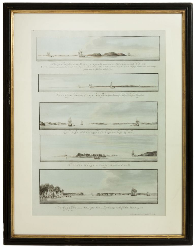 [Five Profile Views from Various Points in New York Harbor, Including One Showing the City Itself]. J. F. W. DES BARRES.