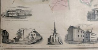 Map of the Towns of Saybrook and Old Saybrook Middlesex County Connecticut.
