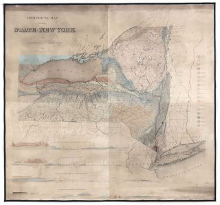 Geological Map Of The State Of New York By Legislative Authority. SHERMAN, SMITH.