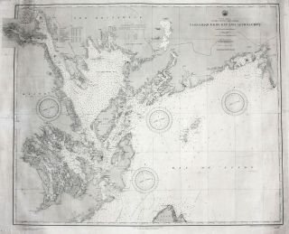 North America United States And Canada Passamaquoddy Bay And Approaches. U. S. NAVY HYDROGRAPHIC...