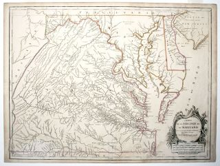 Carte de la Virginie et du Maryland . . J./ JEFFERSON FRY, G., P./ ROBERT DE VAUGONDY