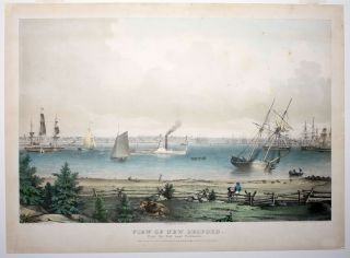 View Of New Bedford. From the Fort near Fairhaven. artist, publisher