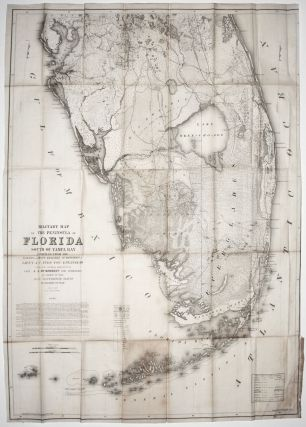 Military Map of The Peninsula of Florida South Of Tampa Bay…By Order Of The Hon Jefferson Davis Secretary of War April 1856…